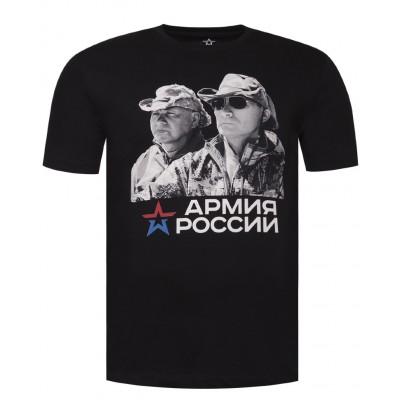 "Футболка ""Путин и Шойгу"", черная (40-1-001)"