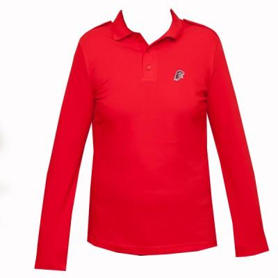 Поло Юнармия с длинным рукавом, красное (20-1-007)