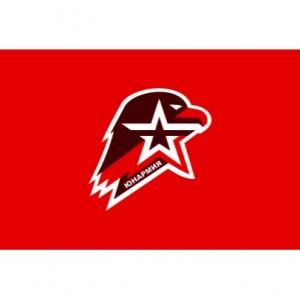 Флаг Юнармии, тонкий, 100*150 (27-1-011)