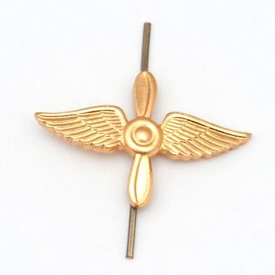 Петличный знак Авиация ВВС, золотой (5-2-036)