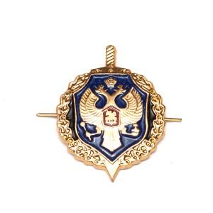 Петличный знак ФСБ, золотой с эмалью (5-2-017)