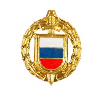 Петличный знак ФСО, нового образца, золото, эмаль (5-2-044)