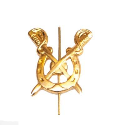 Петличный знак Кавалерия, золотой (5-2-004)