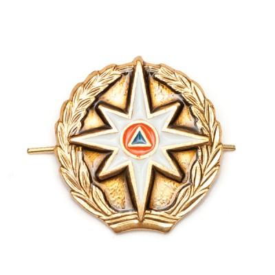 Петличный знак МЧС (без просечек) , золотой (5-2-009)