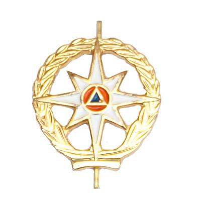 Петличный знак МЧС (с просечками), золотой (5-2-011)