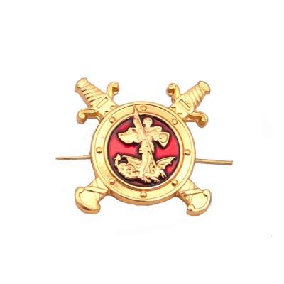 Петличный знак Полиция, золотой с эмалью (5-2-035)