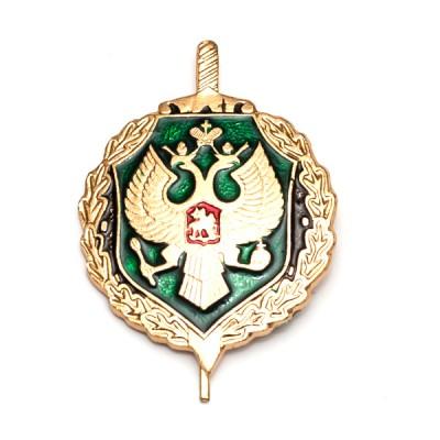 Петличный знак ПС ФСБ, золотой с эмалью (5-2-008)