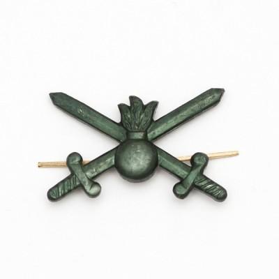 Петличный знак сухопутных войск нового образца, защитный (5-2-002)