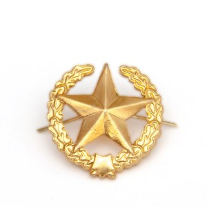 Петличный знак сухопутных войск старого образца, золотой (5-2-012)