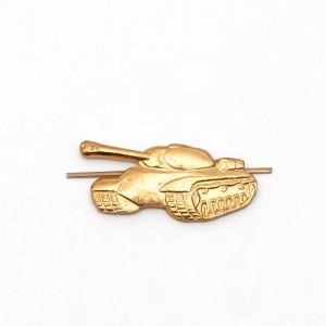 Петличный знак Танк, золотой (цена за пару) (5-2-026)
