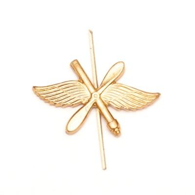 Петличный знак ВКО, золотой (5-2-022)