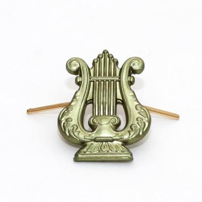 Петличный знак Военно-оркестровая служба, защитный (5-2-018)