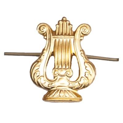 Петличный знак Военно-оркестровая служба, золотой (5-2-007)