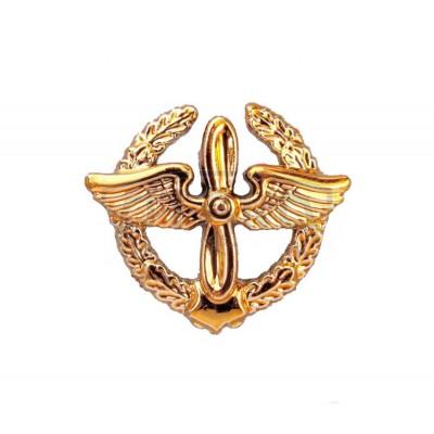 Петличный знак ВВС старого образца, золотой (5-2-046)