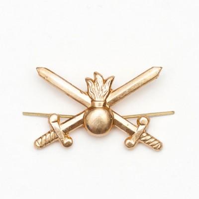 Петличный знак сухопутных войск нового образца, золотой (5-2-001)