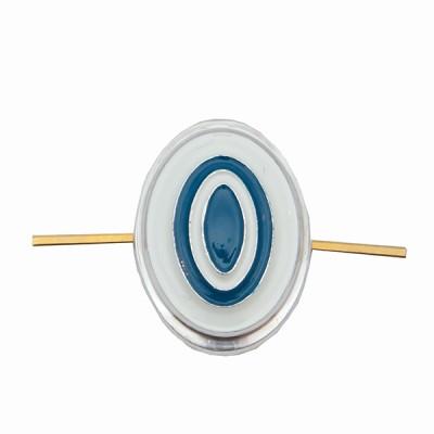Кокарда Казачество рядовой состав, серебряная с голубым (5-1-025)