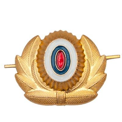 Кокарда МВД большая, золотая (5-1-021)