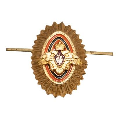 Кокарда ПВ офицерский состав, рифленая, золотая (5-1-009)
