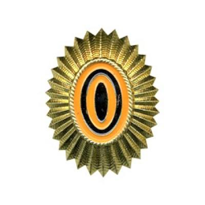 Кокарда РА малая, нового образца, золотая (5-1-003)