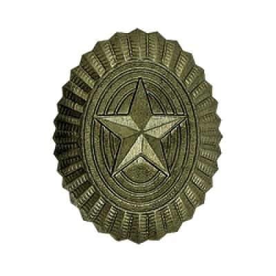 Кокарда РА малая, старого образца, защитная (5-1-002)