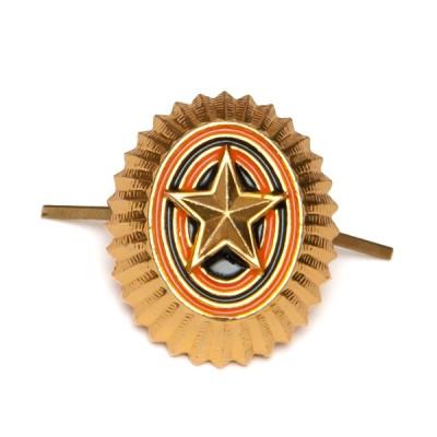 Кокарда РА малая, старого образца, золотая (5-1-001)