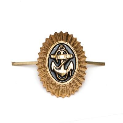 Кокарда ВМФ рядовой состав, золотая (5-1-010)