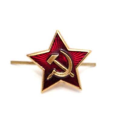 Звезда СССР малая, золотая с эмалью (5-1-020)