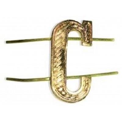 """Буква """"С"""" металлическая, золотая (5-5-025)"""