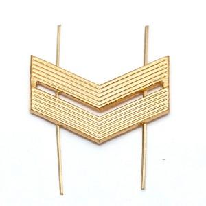 Лычка металлическая Младший сержант, золотая (5-5-002)