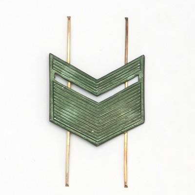 Лычка металлическая Старшина защитная (5-5-012)