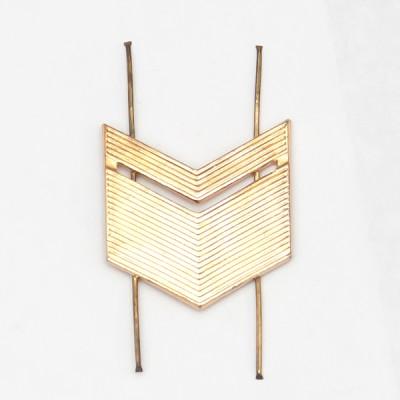 Лычка металлическая Старшина золотая (5-5-011)