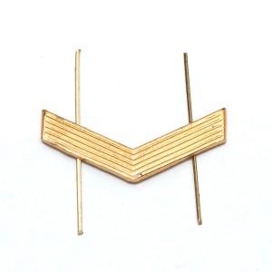 Лычка металлическая Ефрейтор, золотая (5-5-001)
