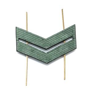 Лычка металлическая Младший сержант, защитная (5-5-008)