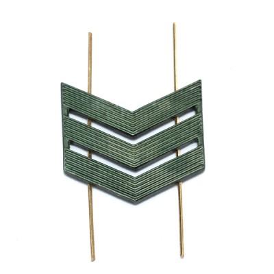 Лычка металлическая Сержант, защитная (5-5-009)