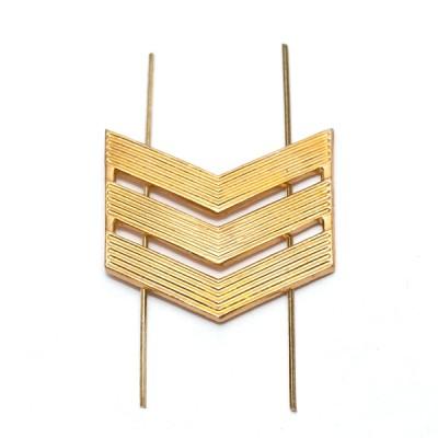 Лычка металлическая Сержант, золотая (5-5-003)