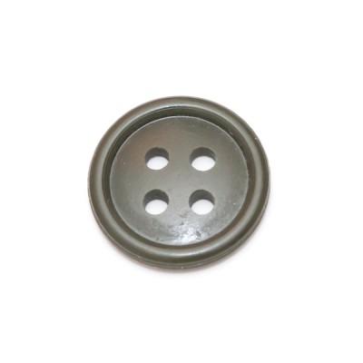 Пуговица 17 мм с 4-я проколами, оливковая (5-4-016)