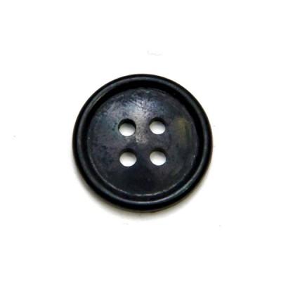 Пуговица 20 мм с 4-я проколами, черная (5-4-025)