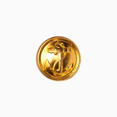 """Пуговица """"Якорь"""" 14 мм металлическая, золотая (5-4-006)"""