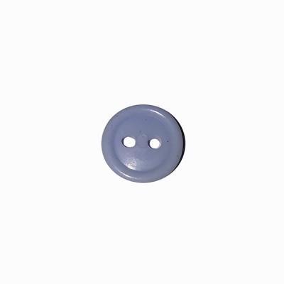 Пуговица малая с 2-я отверстиями, светло-голубая Полиция (5-4-029)