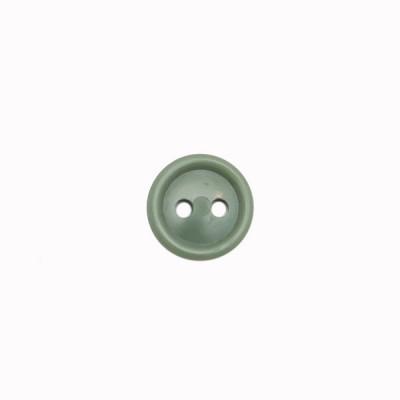 Пуговица малая с 2-я проколами, оливковая (5-4-021)