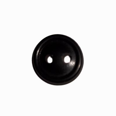 Пуговица малая с 2-мя проколами, черная (5-4-027)