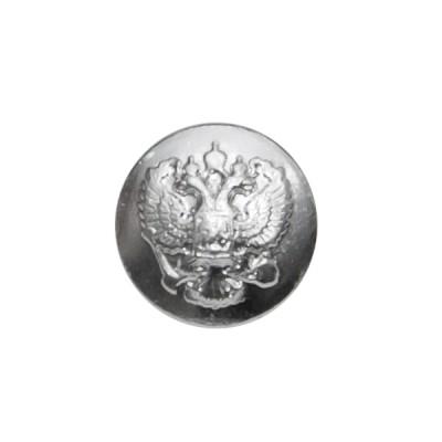 """Пуговица """"Орел"""" 14 мм металлическая, серебряная (5-4-005)"""