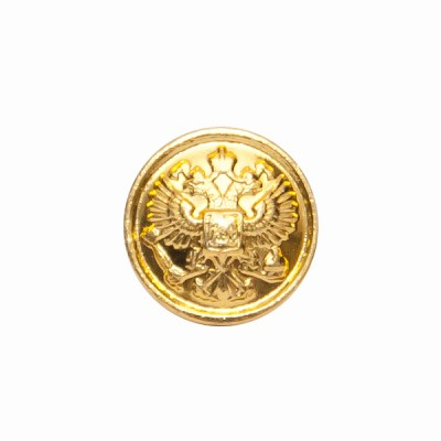 """Пуговица """"Орел"""" 14 мм металлическая, золотая (5-4-003)"""