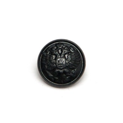 """Пуговица """"Орел"""" 14 мм пластиковая, черная (5-4-012)"""