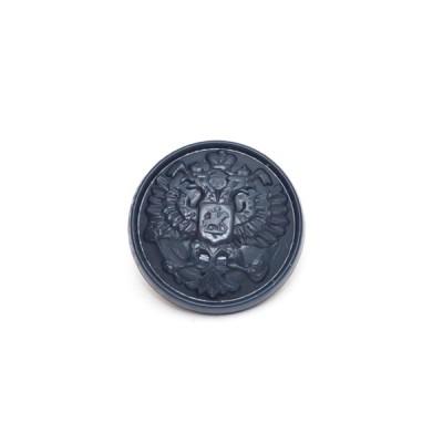 "Пуговица ""Орел"" 14 мм пластиковая, синяя (5-4-019)"