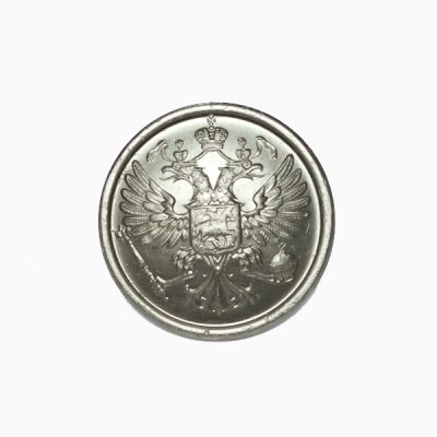 """Пуговица """"Орел"""" 22 мм металлическая, серебряная (5-4-014)"""
