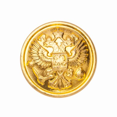 """Пуговица """"Орел"""" 22 мм металлическая, золотая (5-4-004)"""