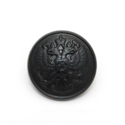 """Пуговица """"Орел"""" 22 мм пластиковая, черная (5-4-022)"""