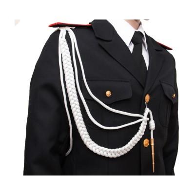 Акесльбант офицерский с 1 наконечником, белый (6-1-007)