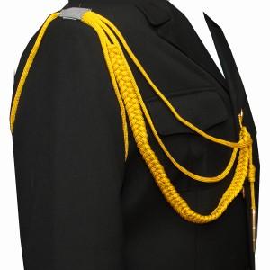 Аксельбант офицерский с 1 наконечником, желтый (6-1-001)